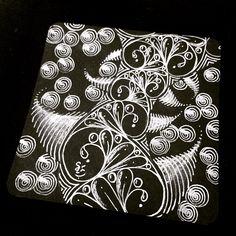 Zentangle -Black tile