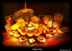 """Vishu (Malayalam: വിഷു) is an important Kerala festival celebrated in the month of """"Medam"""" and a Hindu festival in the Indian state of Kerala. Vishu Greetings, Vishu Festival, Hindu Festivals, Cool Photos, Amazing Photos, Pattern Art, Kerala, Table Decorations, Serendipity"""