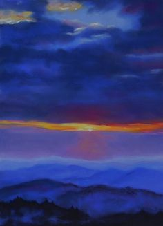 Mountain Twilight by eliseokrend on Etsy