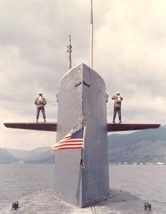 USS John C. Calhoun (SSBN-630)  May 1972.