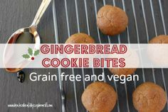 Gingerbread Cookies - Made Grain Free and Vegan! These Grain Free Cookies are great for Christmas and anytime! http://wholenewmom.com/recipe...