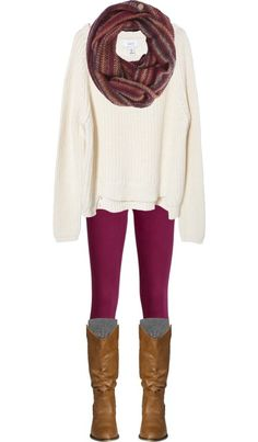 Sweaters, Scarves,  Skinnies, Oh My! by qtpiekelso on Polyvore