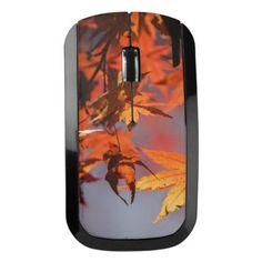 Fall Wonderland of Autumn Colour Wireless Mouse - autumn gifts templates diy customize