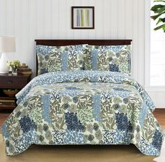 Elena King OR California King Size Oversized Coverlet set Luxury Microfiber in Home & Garden, Bedding, Quilts, Bedspreads & Coverlets Grey Bedding, Quilt Bedding, Floral Bedspread, Pillow Top Mattress, Pillow Shams, Pillow Cases, Queen Comforter Sets, Luxury Bedding Sets, Quilt Sets