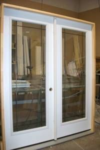 Reliabilt 71 5 in 15 lite glass primer white steel french for 15 lite exterior door with blinds