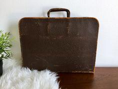 Brown Distressed Leather Portfolio Case - Unisex Brown Leather Briefcase - Rigid Dark Chocolate Brown Leather Attache - Zip Around Work Bag by ShopRachaels on Etsy https://www.etsy.com/listing/517863343/brown-distressed-leather-portfolio-case
