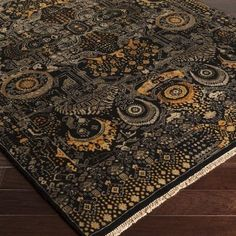 Black Is The Color And Gold Wool To Be Exact Surya Empress