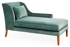 Right-Facing Roslindale Chaise, Jade