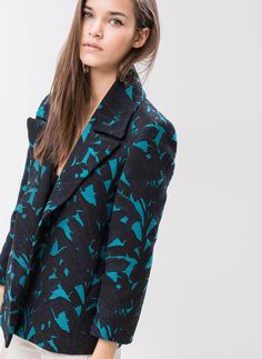 Tropical jacquard jacket - NEW IN STORE - Uterqüe Germany