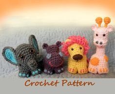 Safari Friends Crochet Critters or Mobile - PDF Crochet Pattern http://www.etsy.com/listing/86092542/safari-friends-crochet-critters-or?ref=sr_gallery_24&sref=&ga_search_submit=&ga_search_query=crochet&ga_view_type=gallery&ga_ship_to=US&ga_page=36&ga_search_type=all&ga_facet=