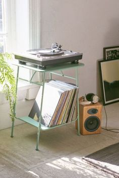 Corner Store Vinyl Storage Rack - Urban Outfitters | @giftryapp