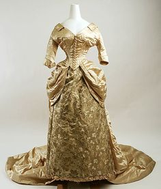 Silk Wedding Ensemble American 1884                                                                                      Date:                                        1884                                                          Culture:                                        American                                                          Medium:                                        silk