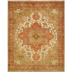 You'll love the Jules Serapi Hand-Knotted Beige/Orange Area Rug at Wayfair - Great Deals on all Rugs products with Free Shipping on most stuff, even the big stuff.
