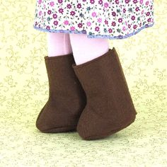 "Brown Boots $6.00, 15"" Handmade Doll Clothing"