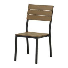 "IF 238-004 - FALSTER Chair - black/brown - IKEA - $50 - Width: 18 1/8 Depth: 23 1/4 ""  Height: 34 1/4 ""  Seat width: 15 3/4 ""  Seat depth: 17 3/8 ""  Seat height: 16 7/8 """