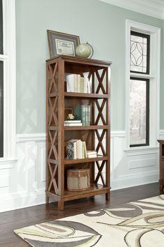 Ashley Burkesville H565-17 Signature Design Burnished Brown Large Bookcase -