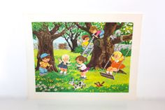 Vintage 1960s CHILDREN'S WALL ART Prints  by PeppermintandCocoa, $20.00