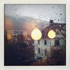 Rain drops on window Polaroid #polaroid #Impossibleproject The impossible project