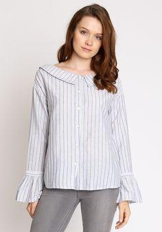 Delilah Stripe Button Up Top