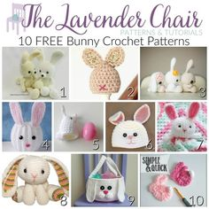 These Bunny Crochet patterns are so cute and they are the perfect thing to crochet for the upcoming Easter holiday. Get the FREE crochet patterns here1