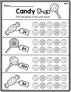 First Grade Money: Unit 6 Money Worksheets, School Worksheets, Kindergarten Activities, Teaching Math, Preschool, Math Classroom, Math Math, Math Games, School Lessons
