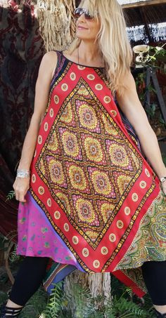 RESERVED for Pamela!  VTG Vintage Silk Scarf Hippie Dippy Fairy Maxi Free Size Oversize Flowy Gypsy  Boho Dress Plus Size