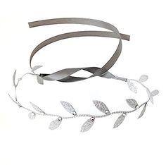 Silver Leaf Wrap Headband with Swarovski Crystals Chic Crystals http://www.amazon.com/dp/B00AMLEQOS/ref=cm_sw_r_pi_dp_ElK7ub095QQAN