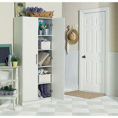 White Lacquer Storage Cabinet | west elm | Entryway | Pinterest ...