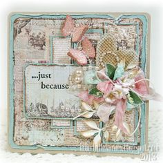 A Shabby Chic Living Room – Decorating On a Budget – Shabby Chic News Butterfly Cards, Flower Cards, Pretty Cards, Cute Cards, Mixed Media Cards, Shabby Chic Cards, Beautiful Handmade Cards, Marianne Design, Vintage Crafts