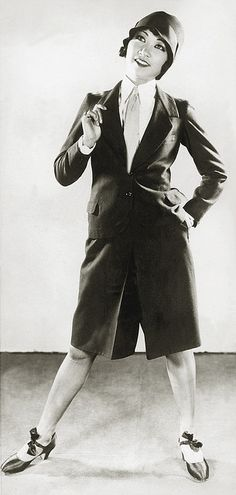 Anna May Wong-adorable 20s shorts pant suit tie shirt cloche hat shoes sportswear Asian movie star