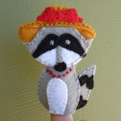 Beginning a new series! Forest Friends Finger Puppet Free Patterns! This week - the rascally raccoon family :)