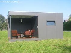 Kubus Gartenhaus mit Flachdach