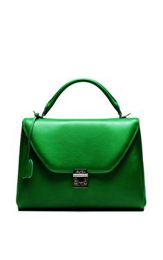 Shop Small Scottie In Green Calf Leather by Mark Cross for Preorder on Moda Operandi
