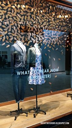 i heart interiors: J. Crew :: Fall Window Display