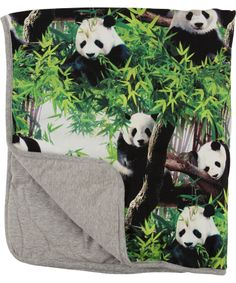 Molo Super Cool Baby Blanket with Fun Panda Print #emilea