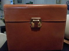Vintage LEATHER Polaroid Case Dark by BellaMommaCollection on Etsy, $30.00
