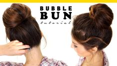 Here's a quick hair tutorial! Learn how to do a perfect, bubble bun hairstyle for layered hair. Easy no-heat hairstyles for school and work for medium or lon...