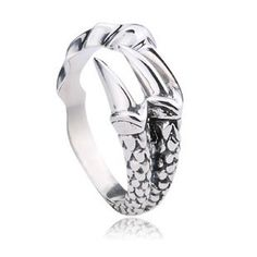 Dragon Claw Open Tail Ring in Sterling Silver For Men