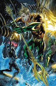 Aquaman Aquaman Dc Comics, Dc Comics Superheroes, Dc Comics Art, Superhero Characters, Dc Comics Characters, Marvel Vs, Marvel Dc Comics, Comic Books Art, Comic Art