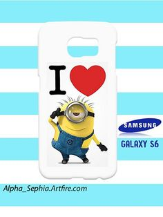 I Heart Minion Despicable Me Samsung Galaxy S6 Case Cover Hardshell