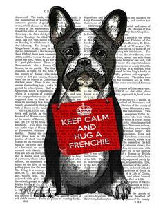 This Frenchie needs a hug! All dogs are adorable but this Keep Calm and Hug a Frenchie will appeal to not just French Bulldog owners, but anyone who