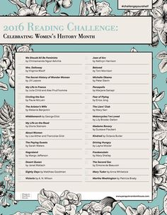 #ChallengeYourShelf with our Women's History Month reading challenge!