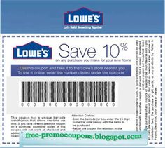 Lowes 10 off printable coupon httplowescouponnlowes free printable lowes coupons fandeluxe Gallery