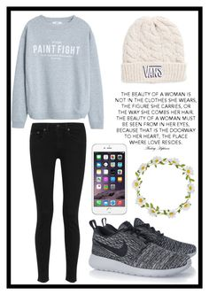 """""""#196 casual look"""" by xjet1998x ❤ liked on Polyvore featuring MANGO, rag & bone, NIKE, Carole and Vans"""