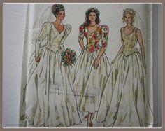 Bridal Gown Sewing Pattern Wedding Dress by VintagePatternsDepot