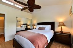 Aina Nalu Resort #k1380203 West Maui Condo for Rent | Maui Hawaii Vacations Guest Bedroom with A/C and Queen Bed