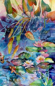 watercolor lilies-I would love to have this hanging in my home.....