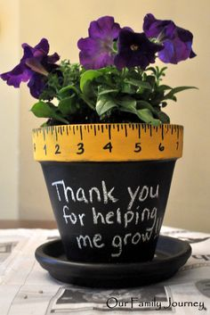 Teacher Thank You Flowerpot - Thanks for helping me grow. Awwwwww...