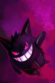 Gengar looks like he's saying whats up.