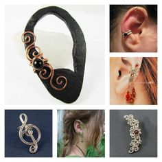 Ear cuffs are a trendy, pretty alternative to pierced or clip-on earrings. Find out how to make your own ear cuffs!